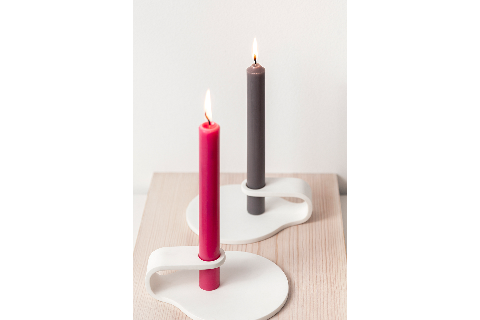 Hole Candlestick Red & Brown Candle