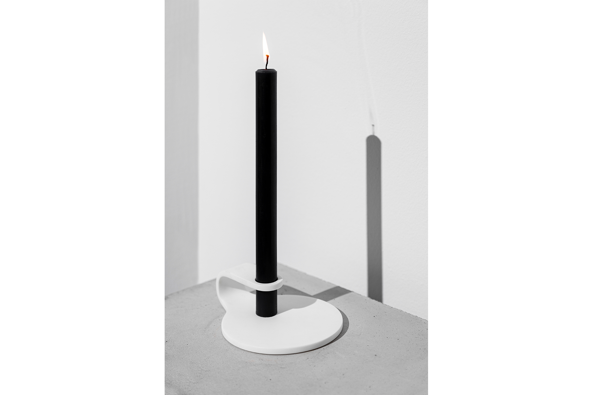 Hole Candlestick with Black Candle